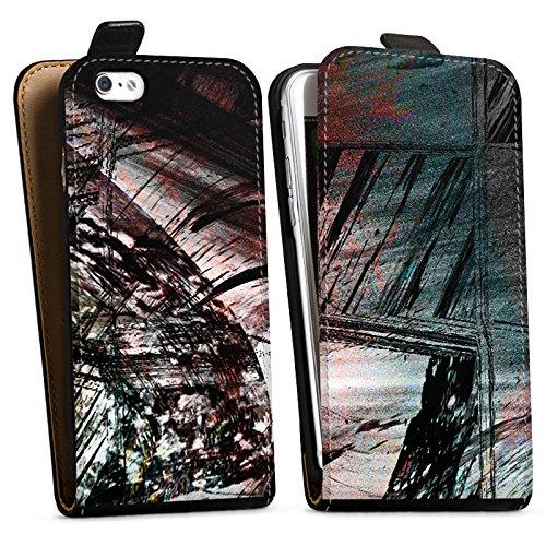 Apple iPhone X Silikon Hülle Case Schutzhülle Grunge Abstrakt Graffiti Downflip Tasche schwarz