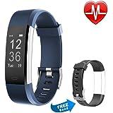 Proze Band+ Fitness Armband mit Pulsmesser Wasserdicht IP67 Fitness Tracker Aktivitätstracker Herzfrequenz Smartwatch Uhr Schrittzähler Schlafmonitor mit 14 Sport Modi für Damen Männer Kinder