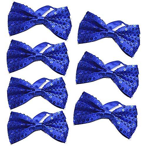 Blau Bow Tie Kostüm - SEGMART 7 Pack Pailletten Fliege