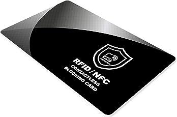 RFID Blocker Karte - NFC Schutzkarte - Störsender - Kreditkarten Schutz - Blockierkarten für Geldbörse, Cliphalter, Bankkarte, Ausweise, Reisepass, Credit Card von SmartProduct