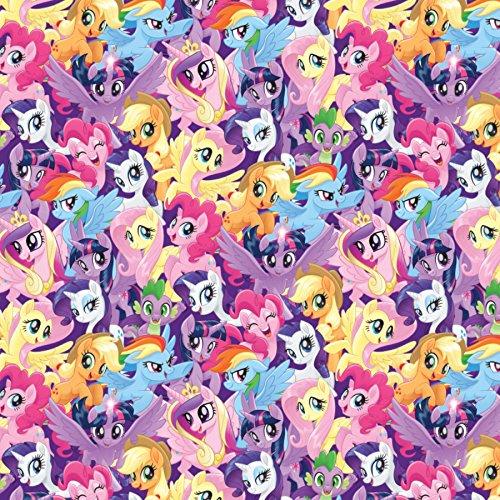 Spring's Creative – Stoff mit Motiv: My Little Pony; 0,5Meter; SC112; 100% Baumwolle (SC187My Little Pony verpackt)