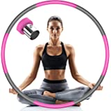 Lanboo Exercise Fitness Hoop for Adults & Kids, Weighted Hoop for Fitness, 8 Section Detachable Adjustable Weight Exercise Ho