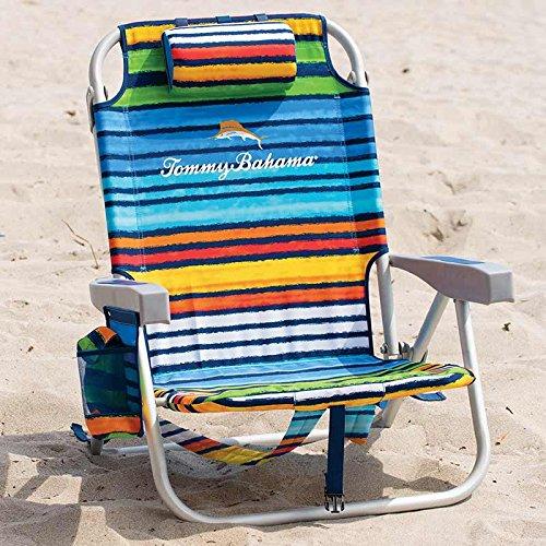 tommy-bahama-mochila-plegable-silla-de-playa-en-color-azul-y-verde-rayas-al-aire-libre-y-jardin