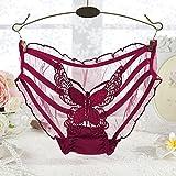Super transparente tul gasa perspectiva femenina sexy bragas seducción cintura baja briefs...