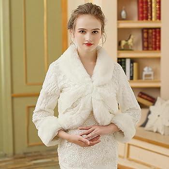 84546705df5397 Etoles de Femme Boleros Fausse Fourrure Mariage Fête Soirée Motif    Impression Fourrure