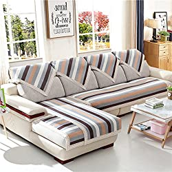 Lino Raya Sofá fundas,Antideslizante Impermeable Toalla de sofá cubierta completa todo incluido Fundas de toalla de sofá Protector de muebles Lanzar juegos de funda de cojín de la sala de estar-gray 90x210cm(35x83inch)