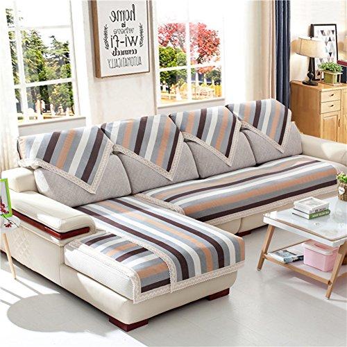 Lino Raya Sofá fundas,Antideslizante Impermeable Toalla de sofá cubierta completa Fundas de...