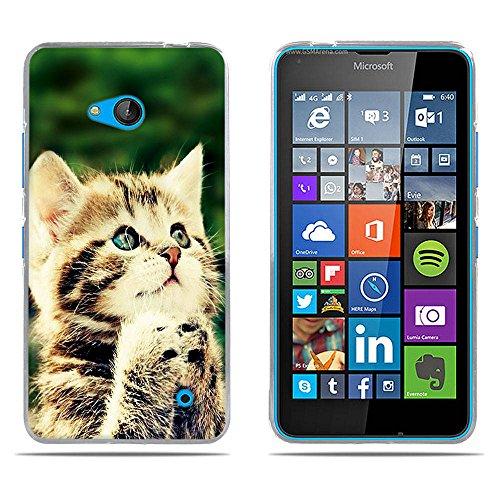 DIKAS Nokia Microsoft Lumia 640 Hülle, Transparente Soft Crystal Clear Ultra Handyhülle Gel Flex Handycover Stoßfest Durchsichtige Silikonhülle Schale Rückseite für Nokia Microsoft Lumia 640- Pic: 10