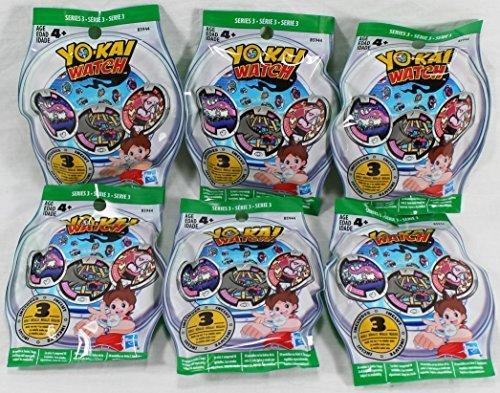 6 Blind Bags: Yo-Kai Watch Series 3 Medals - 18 Random Medals...