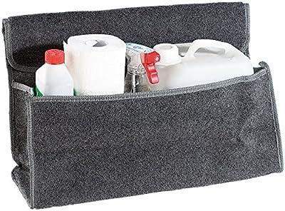Lescars Kofferraumtasche Klett: Anti-Rutsch-Kofferraumtasche mit Klettbefestigung Large (Kofferraum Befestigung Klett)