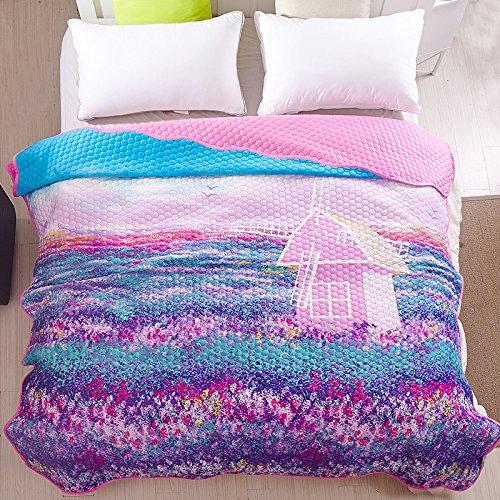 BDUK Korean-Style Garden-Bed für einzelne Dicke Baumwolle Ordner Derivate nahtlose Cartoon Tagesdecken Tagesdecken aus Samt