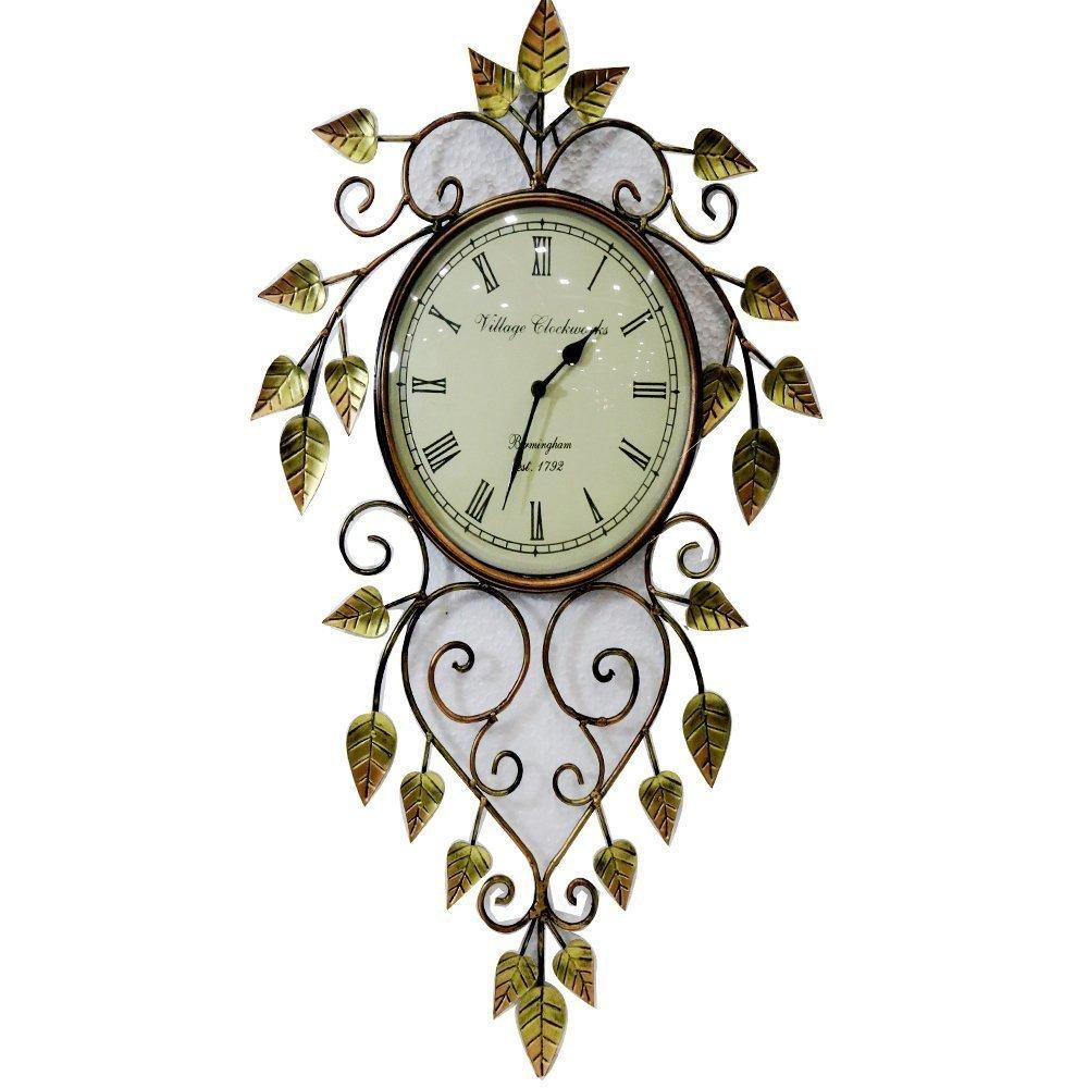 Iron Metal Laef Beautiful Clock