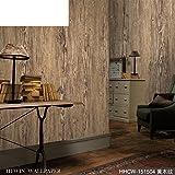 Retro Holzstruktur Wallpaper hölzerne Wohnzimmer Wand-Hintergrundpapier Nachahmung Holz Tapete-D