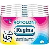 Rotoloni Regina Carta Igienica | Confezione da 42 Maxi Rotoli | 500 strappi per rotolo* | Lunghi più del doppio dei normali r