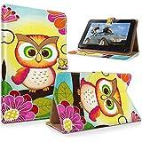 """art&cherry 8"""" Tablet / Tablet-PC 8Zoll Hülle Case - Fintie Ultradünne Smart Shell Cover Lightweight Schutzhülle Tasche Etui Fette Eule"""