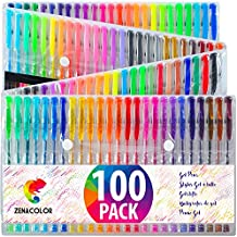 100 Penne Gel Colorate Zenacolor con Astuccio - Set Extra