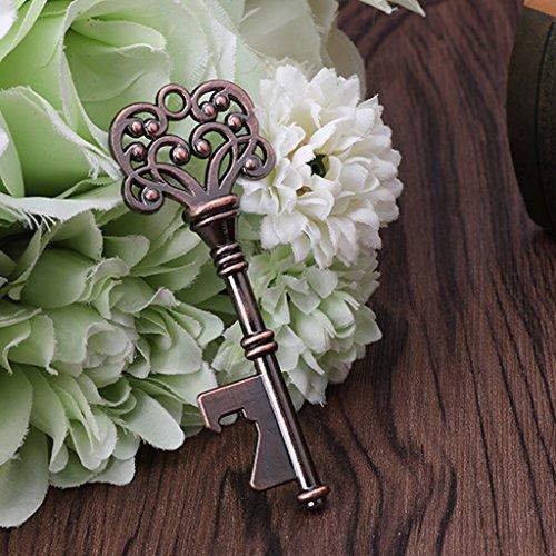 BIlinli Vintage Skeleton Key Wine Bottle Openers Wedding Favor Party Gift Barware Tool Vintage Barware