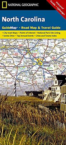 North Carolina: NATIONAL GEOGRAPHIC Guide Maps: NG.GM10.00620542 (Von Karte North Carolina)