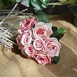GUOYIHUA Künstliche Blumen für Hochzeit, Brautjungfern, Braut-Blumenstrauß, decoration-10, verschiedene Farben zur Auswahl, 09#, 27*4*7cm