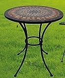 Gartentisch Sardena, Mosaik Möbel im Mediterrane Stil, Tisch Rund