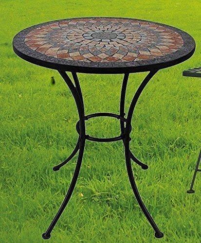 Gartentisch Sardena, Mosaik Möbel im Mediterrane Stil, Tisch Rund - Mediterraner Stil Möbel