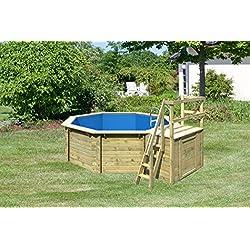 Kit piscine bois 4,00x 1,20m bois piscine avec Solarium