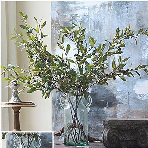 K&C Plantes artificielles arbustes artificiels des plantes Décoration Olive Branch