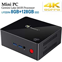 Beelink X45 Mini PC, Mini Computer Desktop con Processore Intel Gemini Lake Celeron J4105, 8GB LPDDR4/128GB SSD, 2,4/5,8 G Wi-Fi, 4K, LAN 1000 Mbps, Doppio HDMI 2.0, BT 4.0, Preinstallato Windows 10