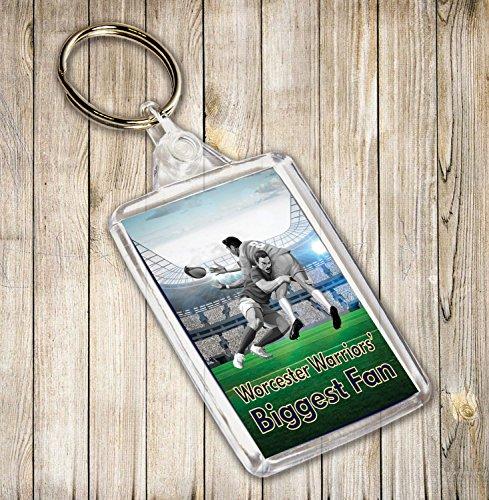 WORCESTER WARRIORS Biggest Fan Rugby Themed Schlüsselanhänger, Geburtstag Geschenk/Strumpffüller
