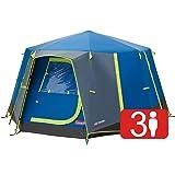 Coleman OctaGo 3 personer festivaltält, kupoltält, 3 män campingtält vattentätt med insydd markpresenning