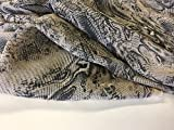 Iana Fabrics Marmor Viskose Chiffon Schlange Haut Valentino