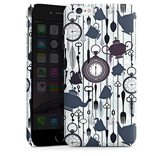Apple iPhone 5s Housse Étui Protection Coque Thé heure temps Motif Motif Cas Premium brillant