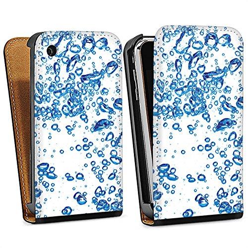Apple iPhone 4 Housse Étui Silicone Coque Protection Eau Water Bulles Sac Downflip noir
