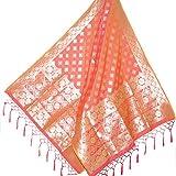 #4: Silk Zone Women's Banarasi Silk Dupatta