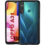 REALCASE Clear Case Gel TPU Bumper Back Cover for Oppo A31 (E-Black)