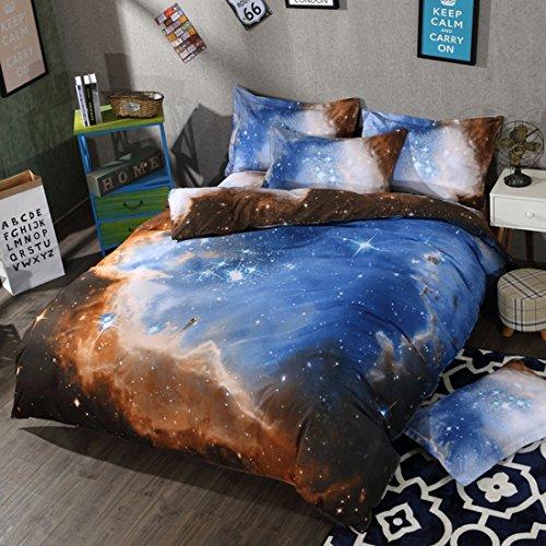 FGDJTYYJ 3D Galaxie Himmel Print Bettwäsche-Set Mit Kissenbezügen Queen-Size Schlafzimmer Doppelbett Bettdecke Mode Geschenk, D, 200x230cm