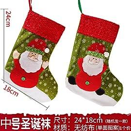 MELLIEX 2pcs Calza di Natale Calza di Natale Personalizzata di Grandi con 20pcs Etichette Regalo per la Decorazione della Festa di Casa Natale