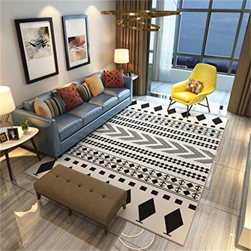 alfombra Alfombra rectangular moderna simple Alfombra geométrica de estilo nórdico / sala de estar Mesa de centro Mesitas de noche Alfombrillas de cabecera ( Color : #4 , Tamaño : 140*200cm )
