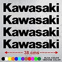 4 PEGATINAS MOTO KAWASAKI ZX-R ZXR 750 de 38 cm x 6,2 cm. ADHESIVO VINIL STICKER DECALS AUFKLEBER