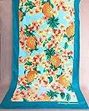 SunJin brillant! Américain à&ma serviette de plage serviette canapé fleurs décoration chambre modèle,bord bleu jacquier,170x93cm