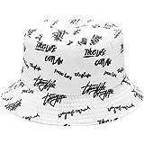 DURINM Cappello Pescatore Reversibile Cotone Graffiti Pieghevole Pescatore Cappello Outdoor Uomini Donne Cappello da Pescator