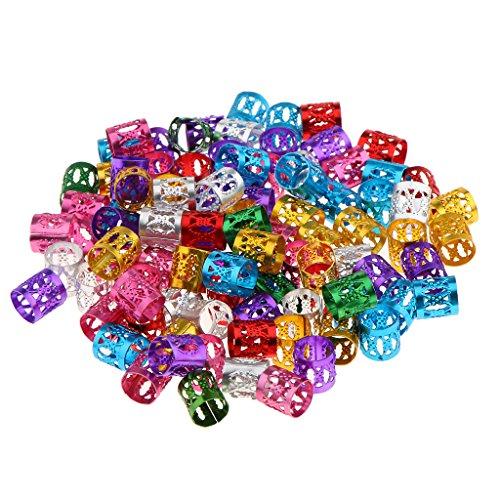MagiDeal 150x Perles de Cheveux Tresse Dreadlocks Extensions de Cheveux Décoration Anneau de Bijoux / Bracelet / Collier - Outil Artisanat -1x1cm