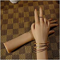 Silicone Hand Model Displays Model - Female Mannequin with Soft Realistic Vein - for Art Sketch Jewelery Ring Glove Bracelet Bangle Nail Display Props