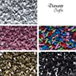 100 x 5mm Brads Round - by Diamante Crafts - Choose your colour (Mixed Colours)