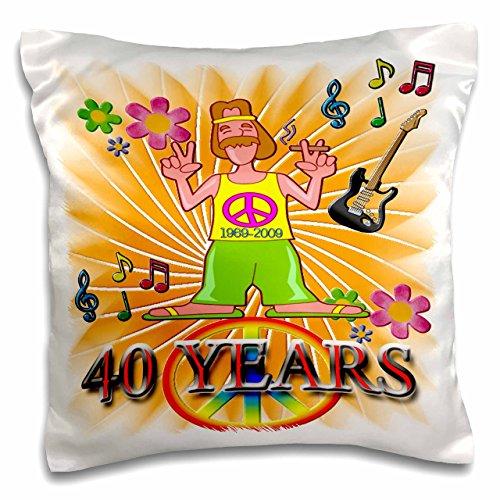 3dRose PC 110997_ 1Remember The 60er und die Konzerte, die Musik und die, englischsprachige Jubiläum der Woodstock Generations-Pillow Fall, 16von 40,6cm