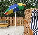 Sonnenschirm, Strandschirm bunt / Balkonschirm / Schirm Regenbogen / Regenbogenfarben, M-01000