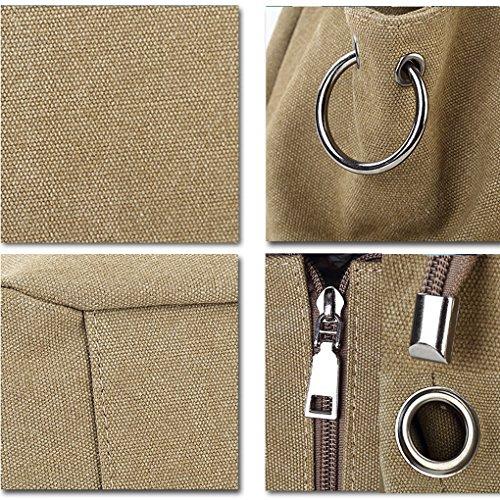 Borsa a tracolla da donna, resistente di tela, Vintage, Coffee (marrone) - CLOA0019-01 Khaki