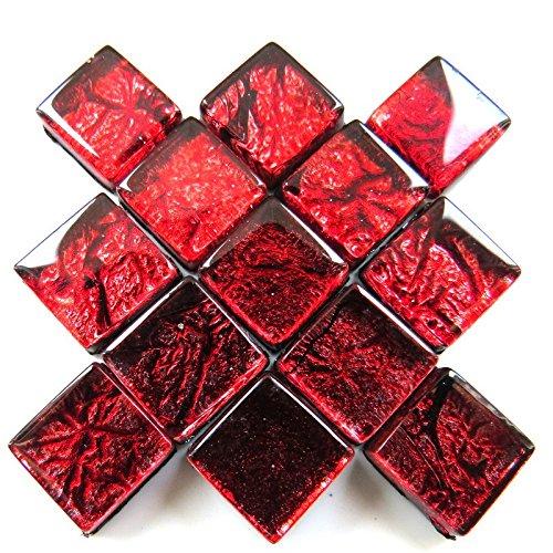 Carreaux de mosaïque artisanale - Revers en aluminium - 10 mm - 50 g - Rose