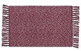 Lukis Antirutschmatte 45x70cm Fußmatte Waschbar für Innen- und Außen-Bereich mit Anti-Rutsch-Matte Rutschfester Tischmatte Rot