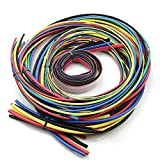 SODIAL 55M / Kit Schrumpfschlauch 11 Groessen Bunte Tube Schlauch Kabel 6 Farben